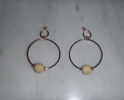 Μαρμάρινα σκουλαρίκια